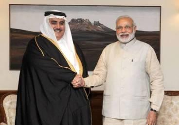 Prime Minister, Shri Narendra Modi received the Foreign Minister of Bahrain Shaikh Khalid Bin Mohamed Al Khalifa - 23 February 2015