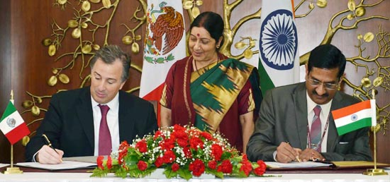 ​India and Mexico sign agreement on Space Cooperation during the official visit of Foreign Minister of Mexico to India
