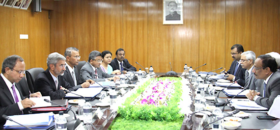 Foreign Secretary S Jaishankar holding talks with Foreign Secretary Md. Shahidul Haque of Bangladesh in Dhaka as part of his 'SAARC Yatra'