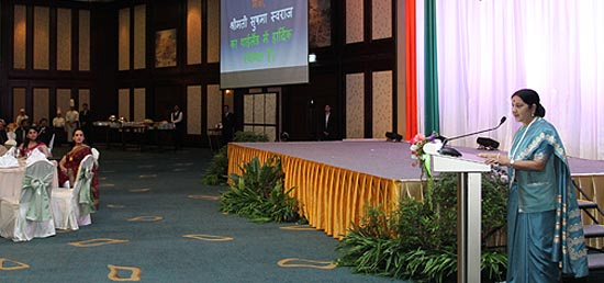 External Affairs Minister attends the Indian community Reception in Bangkok, Thailand