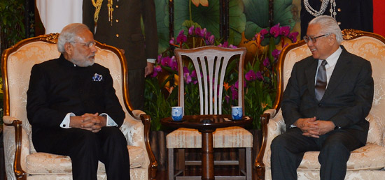 Prime Minister calls on President Tony Tan Keng Yam of Singapore