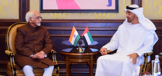 Vice President meets Sheikh Mohammed Bin Zayed Al Nahyan, Crown Prince of Abu Dhabi in New Delhi during his three day State visit to India