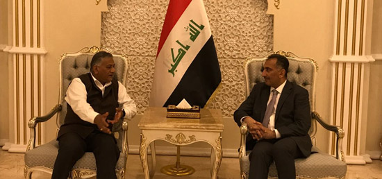 Minister of State for External Affairs General (Dr) V.K. Singh (Retd) meets Nazar Khairallah, Deputy Foreign Minister of Iraq in Baghdad