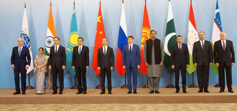 Group Photograph of Heads of Delegation of SCO Member States in Sochi