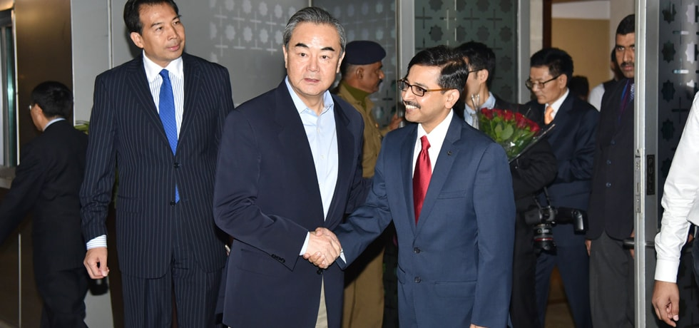 Wang Yi, Minister of Foreign Affairs of China arrives in New Delhi