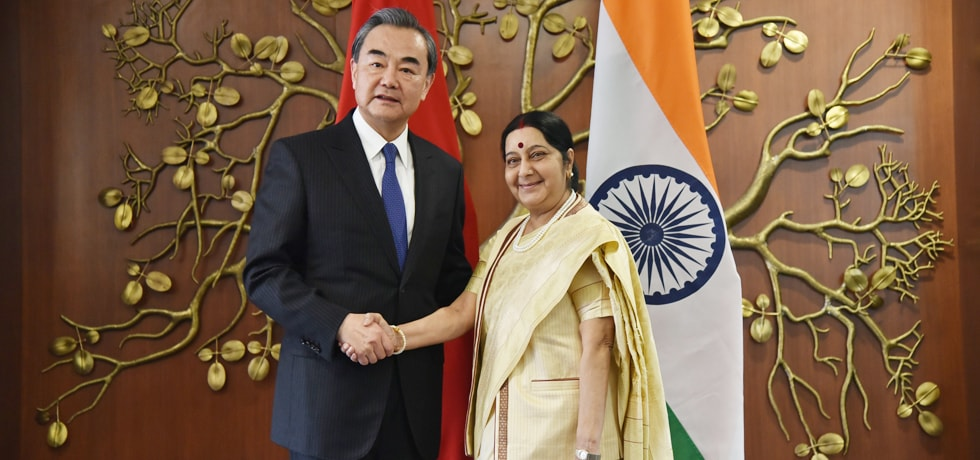 External Affairs Minister meets Wang Yi, Minister of Foreign Affairs of China in New Delhi