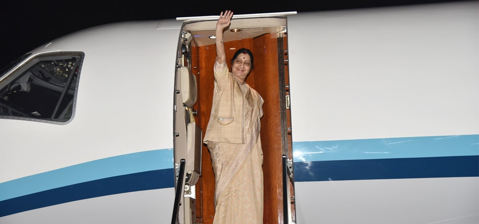 External Affairs Minister departs for Abu Dhabi for co-chairing the India-UAE Joint Commission Meeting