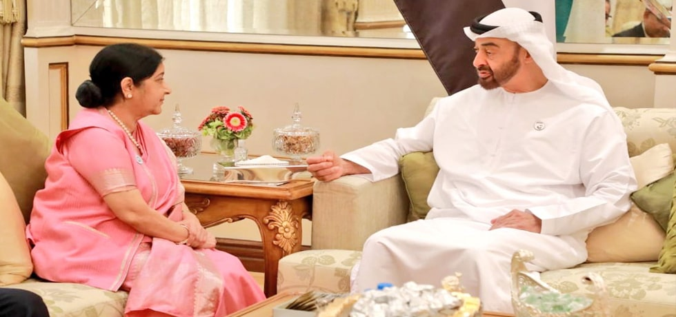 External Affairs Minister meets Sheikh Mohammed bin Zayed Al Nahyan, Crown Prince of Abu Dhabi