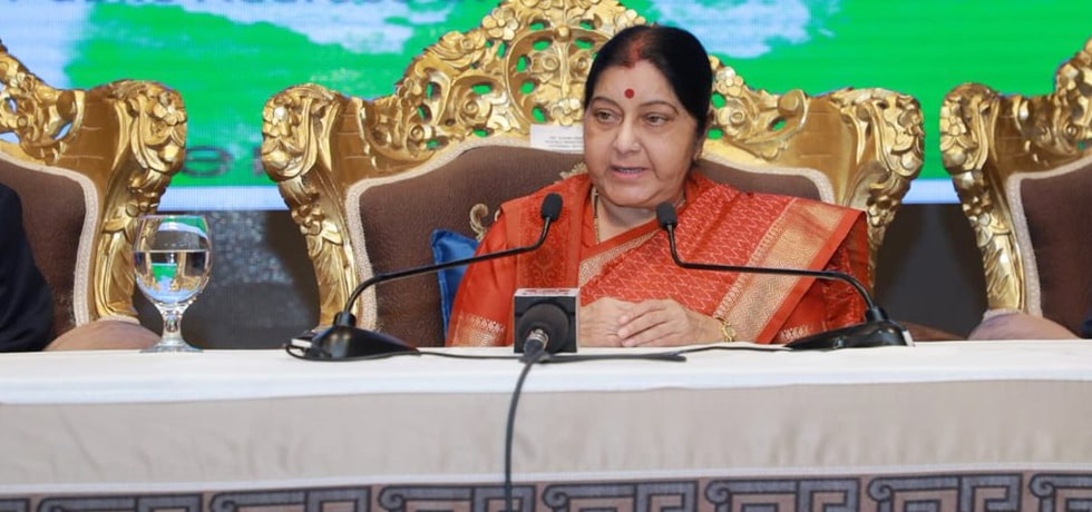 External Affairs Minister addresses Indian Community in Abu Dhabi