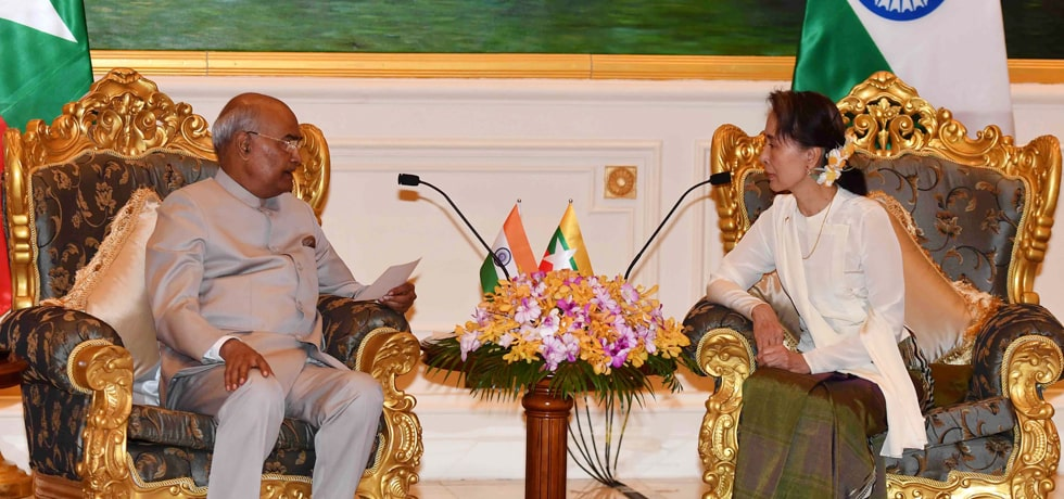 President meets Daw Aung San Suu Kyi, State Counsellor of Myanmar at Presidential Palace in Nay Pyi Taw