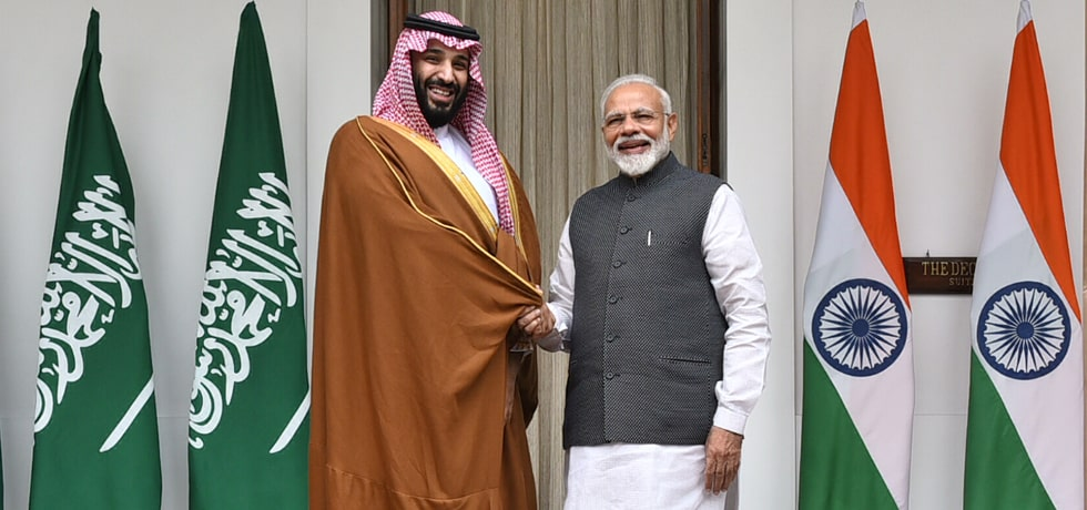 Prime Minister meets Mohammed bin Salman, Crown Prince of Saudi Arabia in Hyderabad House, New Delhi