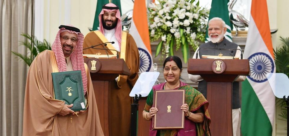 Prime Minister and Mohammed bin Salman, Crown Prince of Saudi Arabia witness Exchange of Agreements between India and Saudi Arabia in New Delhi