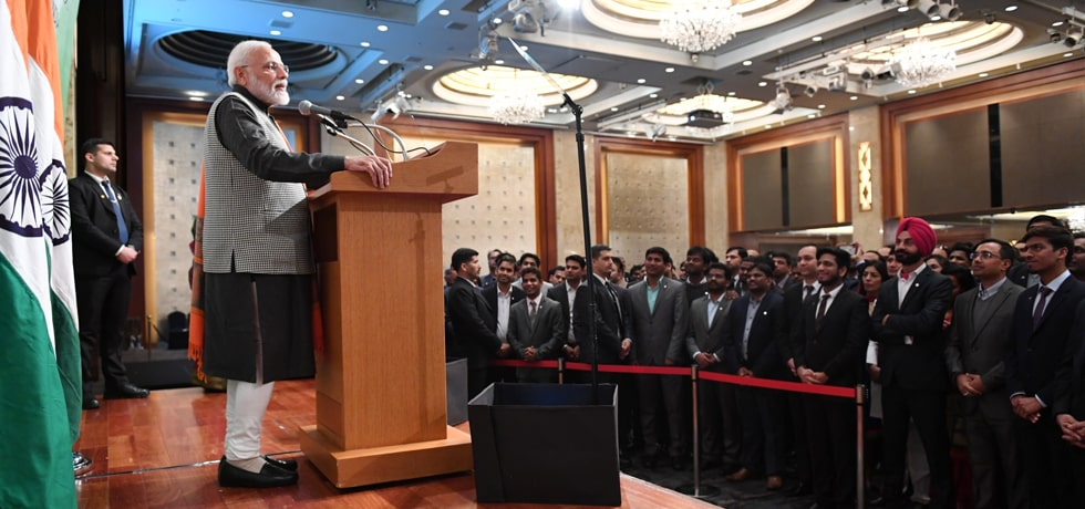 Prime Minister addresses Indian community in Seoul
