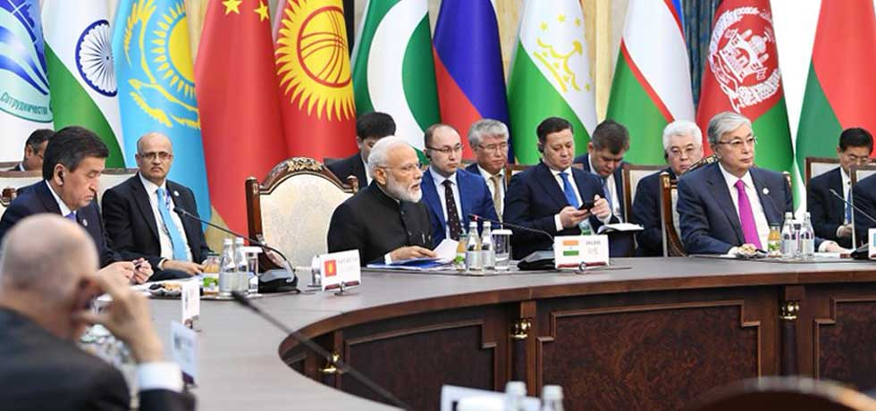 Prime Minister attends the meeting of the Council of Heads of State of SCO 2019