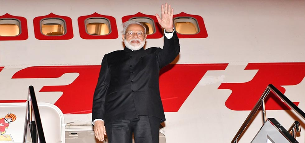 Prime Minister departs for New Delhi after successful completion of his 2-day visit to Kyrgyz Republic