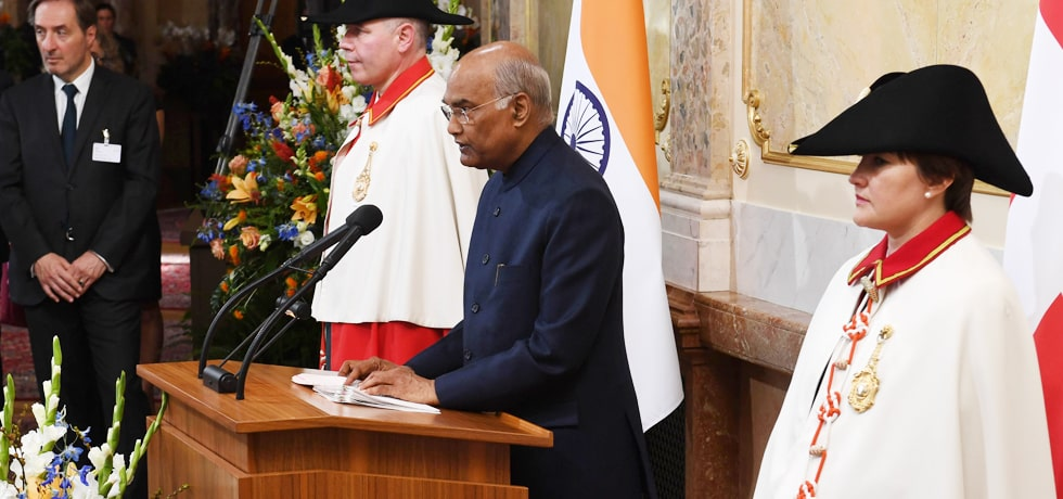 President delivers his address at the House of Parliament in Berne, Switzerland