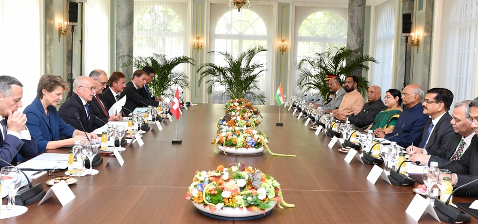 President participates in the Delegation Level Talks in Interlaken, Switzerland