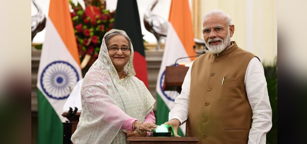 Video inauguration of bilateral projects in Bangladesh by Prime Minister and Sheikh Hasina, Prime Minister of Bangladesh from New Delhi