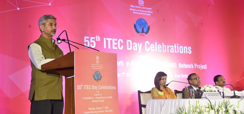 External Affairs Minister delivers Keynote Address on celebration of 55 years of ITEC at Pravasi Bharatiya Kendra in New Delhi