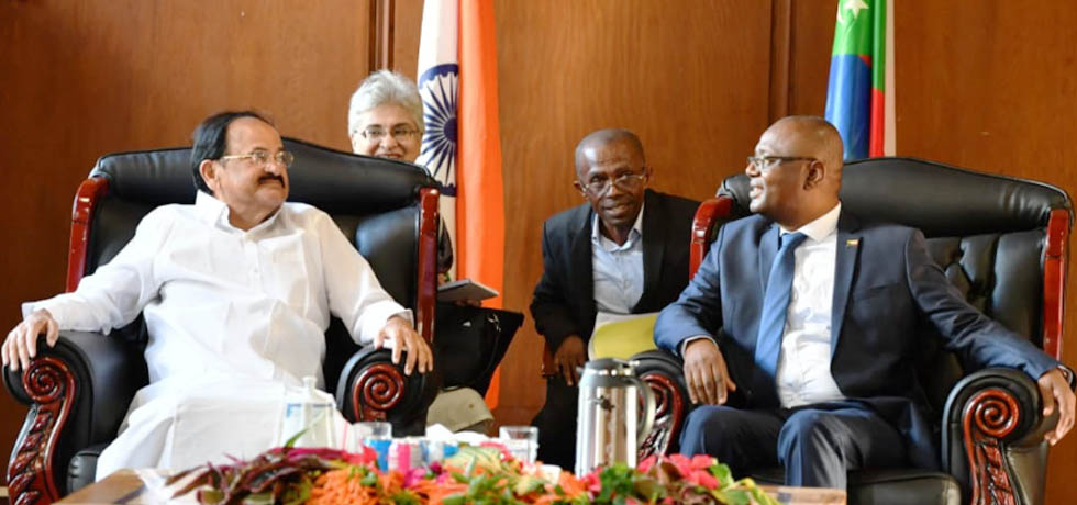 Vice President meets Abdou Ousseni, President of the Assembly of Comoros in Moroni
