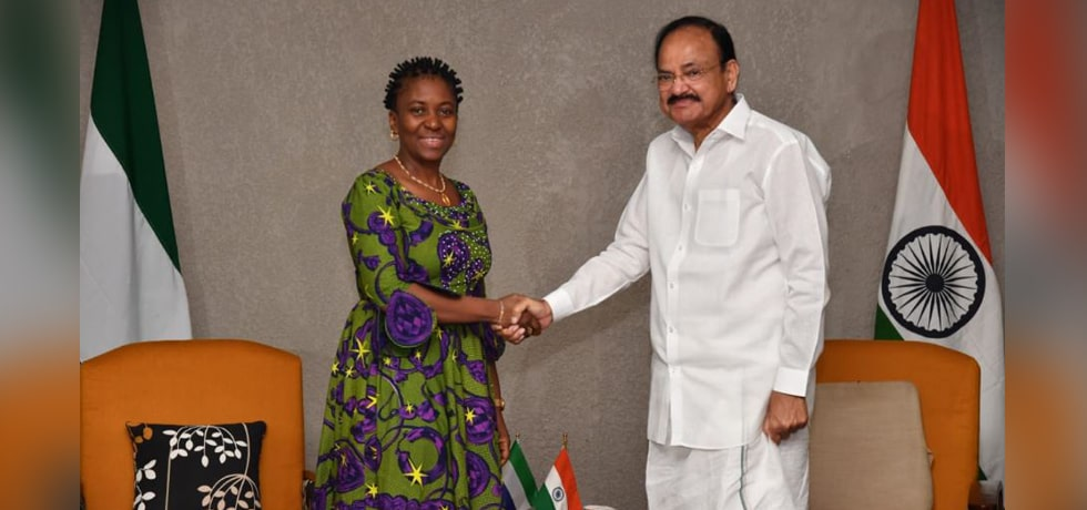 Vice President meets Nabeela Farida Tunis, Minister of Foreign Affairs of Sierra Leone in Freetown
