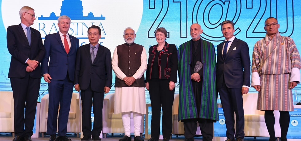 Prime Minister attends the inaugural ceremony of Raisina Dialogue 2020 in New Delhi [ph]Photo Courtesy: Chandan Kumar Shah[/ph]