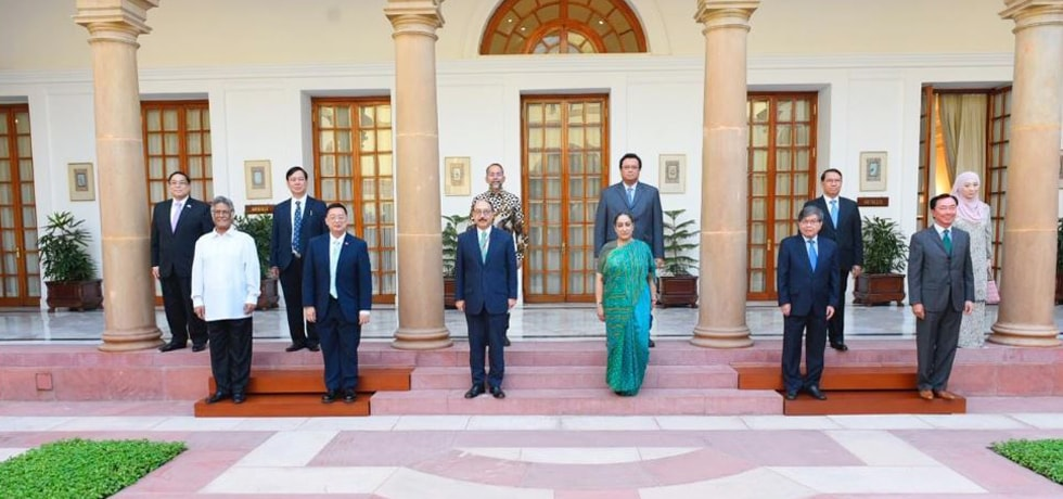Foreign Secretary and Secretary (East) meet Ambassadors of ten ASEAN countries in New Delhi [ph]Photo Courtesy - Chandan Kumar Shah[/ph]