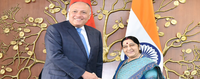 Visit of Foreign Minister of the Arab Republic of Egypt to India (March 22-23, 2018)