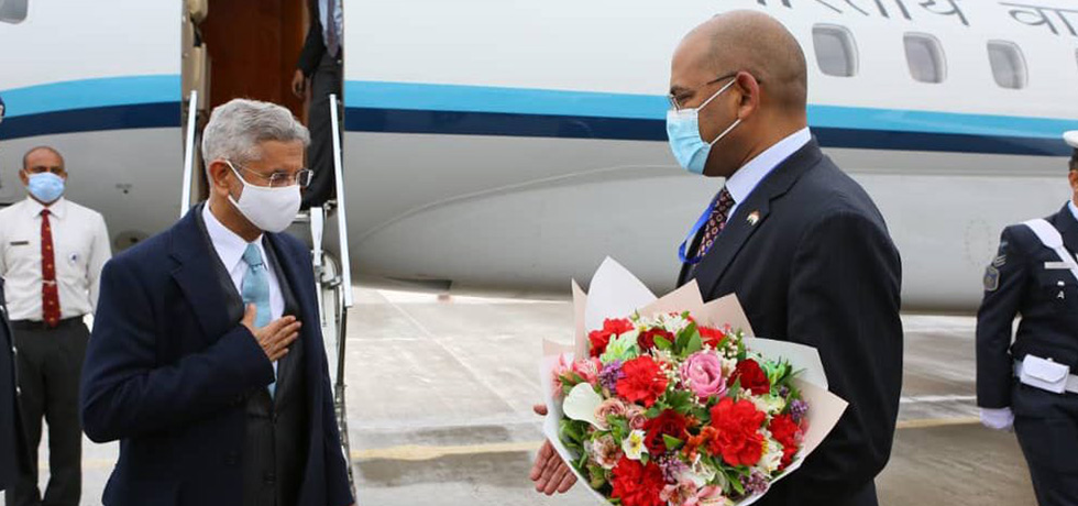 External Affairs Minister arrives in Dushanbe for bilateral visit and the Heart of Asia Conference