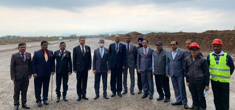 External Affairs Minister visits the Dushanbe-Chortut Highway Project site in Tajikistan