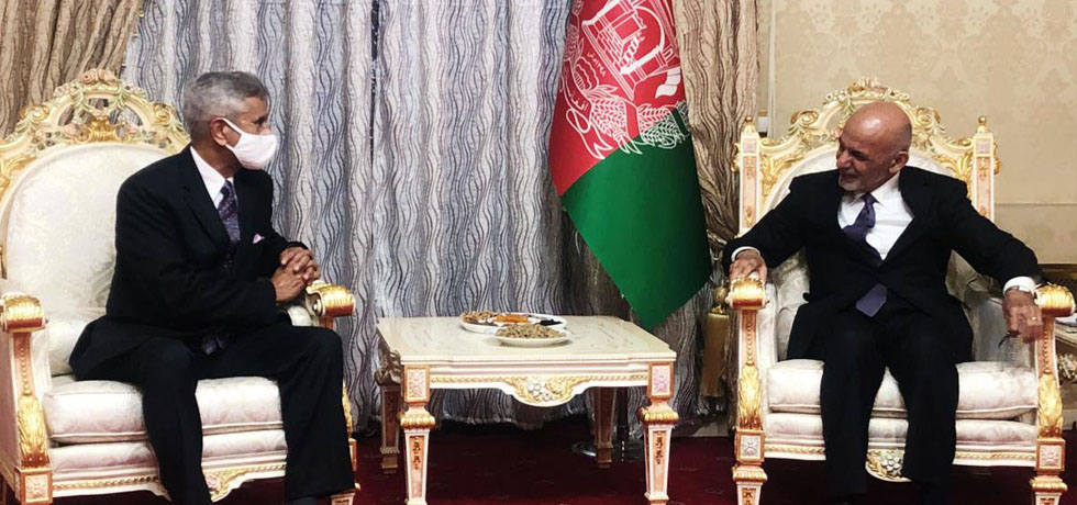 External Affairs Minister calls on H.E. Ashraf Ghani, President of the Islamic Republic of Afghanistan