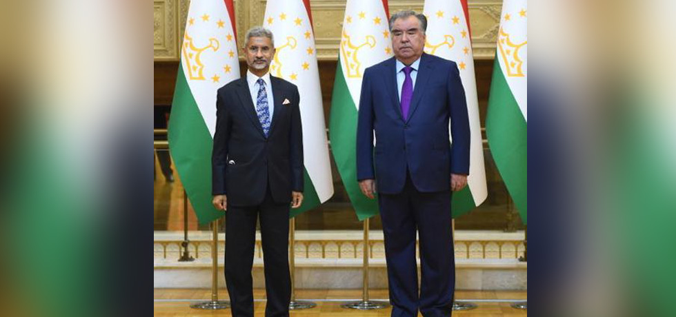 External Affairs Minister calls on H.E. Emomali Rahmon, President of Tajikistan in Dushanbe