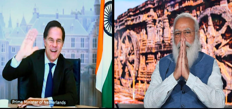Prime Minister held a Virtual Bilateral Summit with Mark Rutte, Prime Minister of Netherlands