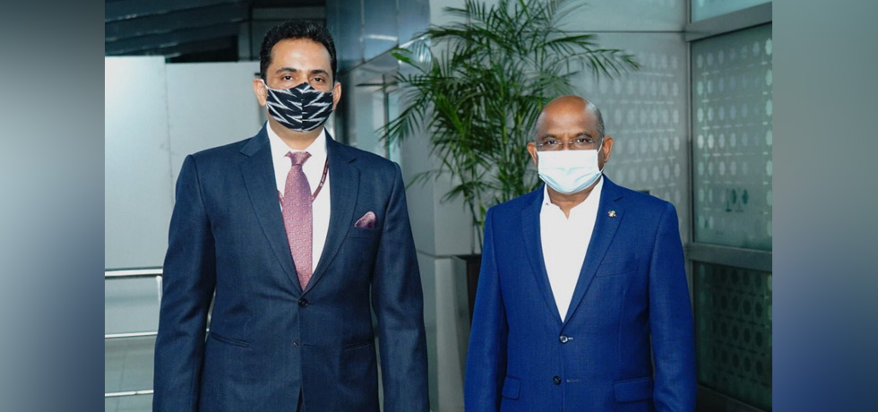 H.E. Mr. Abdulla Shahid, Minister of Foreign Affairs of Maldives arrives in New Delhi for his official visit