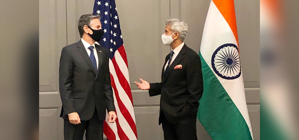 External Affairs Minister meets U.S. Secretary of State Antony J. Blinken in U.K