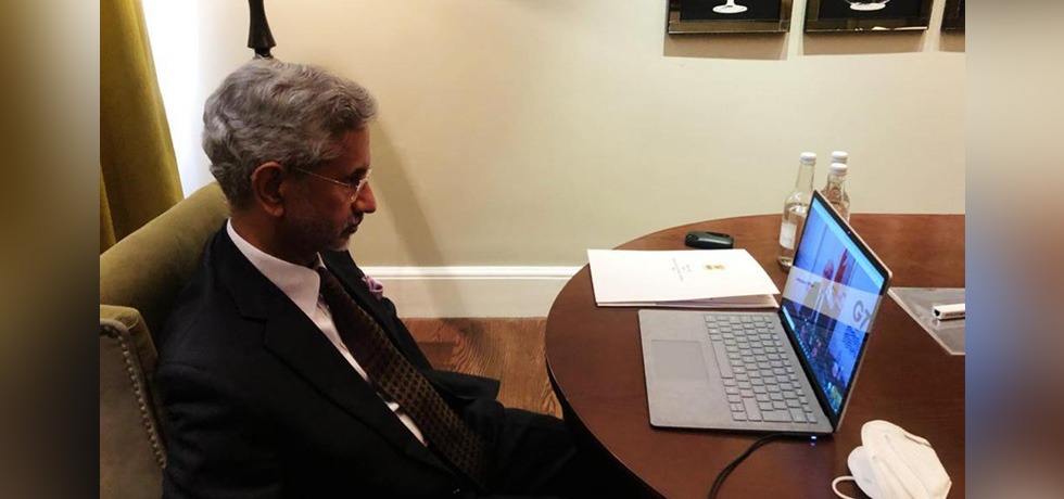 External Affairs Minister virtually meets Marc Garneau, Foreign Minister of Canada on G7 sidelines